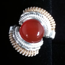 Load image into Gallery viewer, Silver and Red Onyx Ring