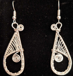 Silver Woven Earrings
