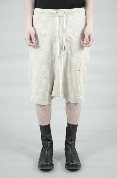 DROP CROTCH CONTRA STRUCTURED SHORTS 80 SAND