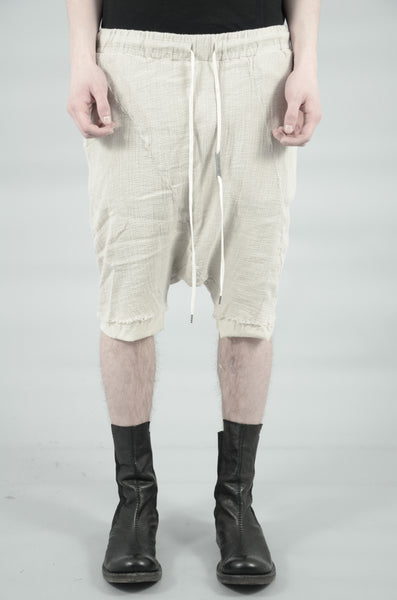 DOUBLE LAYERED KNITTED LINEN SHORTS 85 SAND