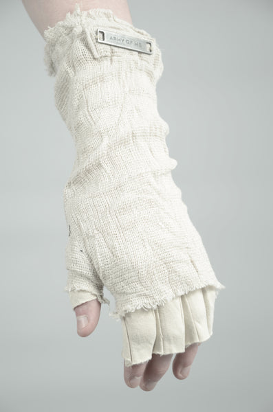 KNITTED LINEN GLOVES 91 SAND