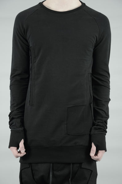 PATCHED SWEATSHIRT 43 BLACK