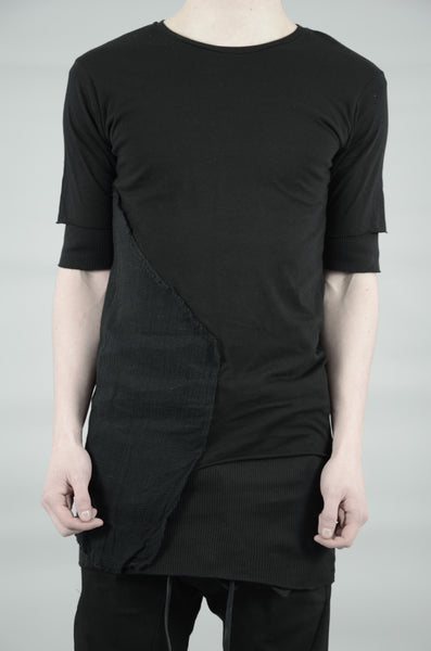 DOUBLE LAYERED T-SHIRT 29 BLACK