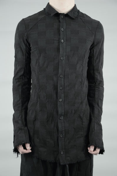 CONTRA STRUCTURED BUTTON UP SHIRT 44 BLACK