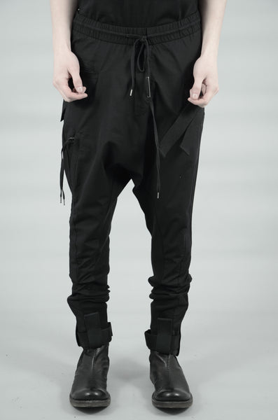 LIGHTWEIGHT  VELCRO STRAP TROUSERS 69 BLACK