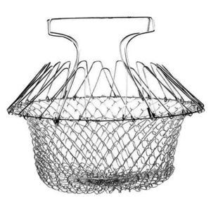 Hot Sale-Multifunctional Kitchen Foldable Fry Basket
