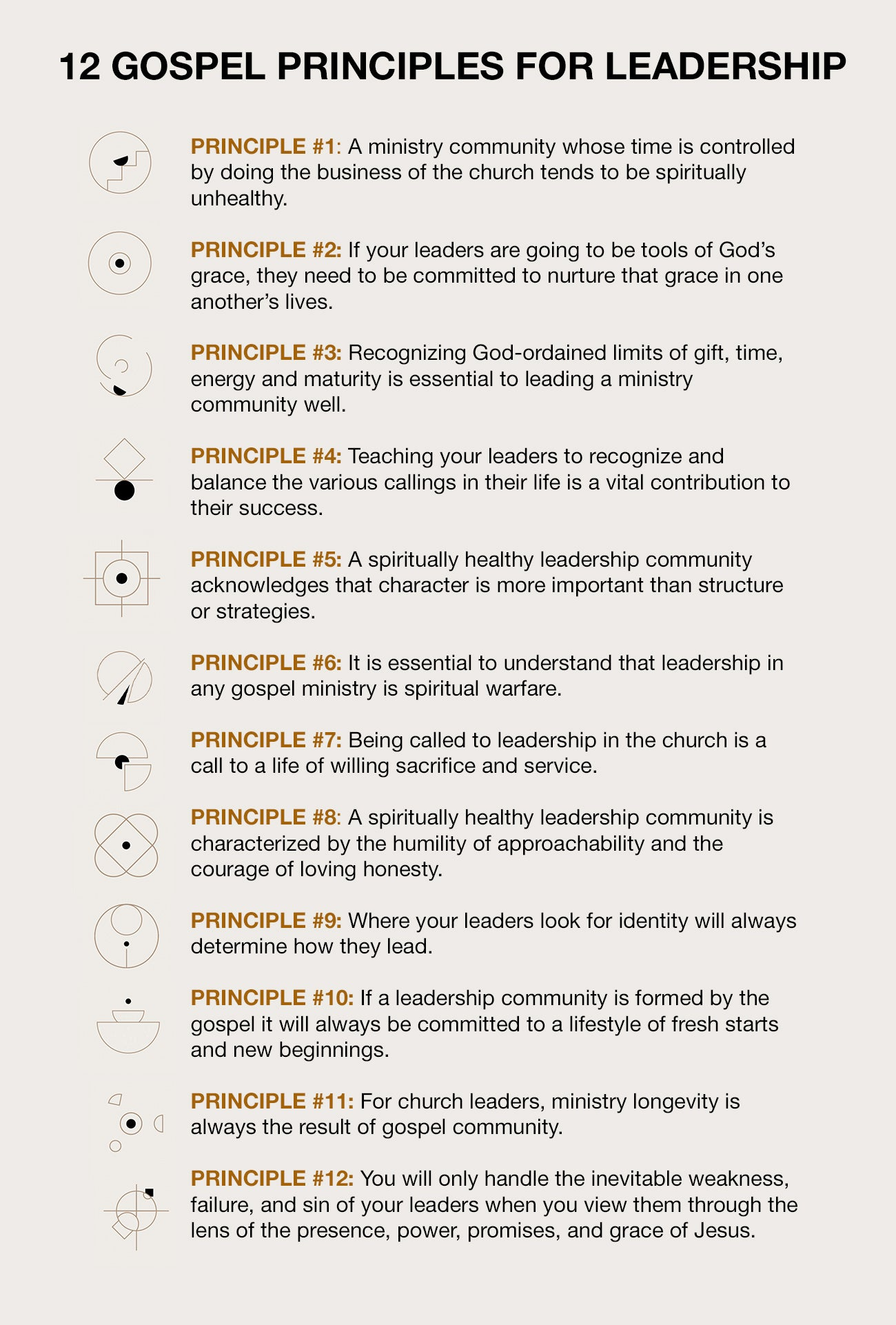 12 Gospel Principles for Leadership