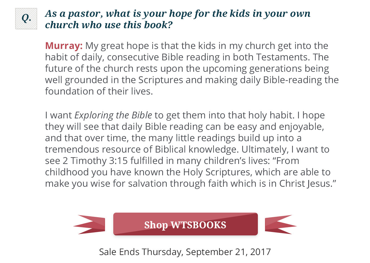 Exploring the Bible – Westminster Bookstore