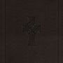 ESV Single Column Journaling Bible, Large Print (TruTone, Charcoal, Celtic Cross Design) cover image