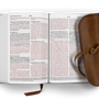 ESV Large Print Compact Bible (Natural Leather, Strap Flap)