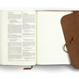 ESV Journaling Bible, Interleaved Edition (Leather, Brown, Flap with Strap)