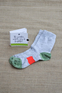The weather outside may be frightful Sock Card - Her - Crew Length