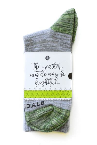 The weather outside may be frightful Sock Card - Him - Crew Length