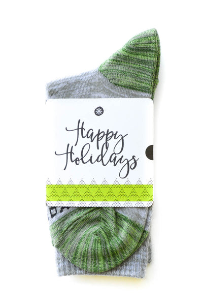 Happy Holidays Sock Card - Her - Crew Length