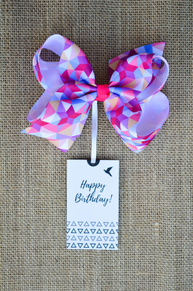 Pink Bow Tag