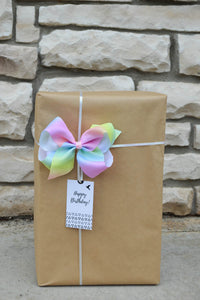 Rainbow Bow Tag