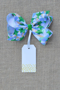 Green Bow Tag