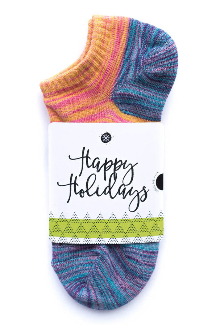 Happy Holidays Sock Card - Her