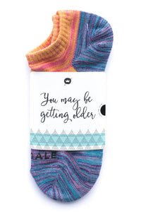 You may be getting older Sock Card - Her