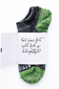 The weather outside may be frightful Sock Card- Her