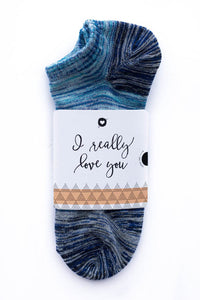 I really love you Sock Card - Him