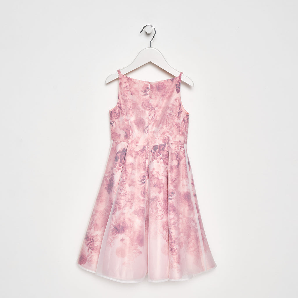 Aurelia Rose Floral Organza Overlay Dress