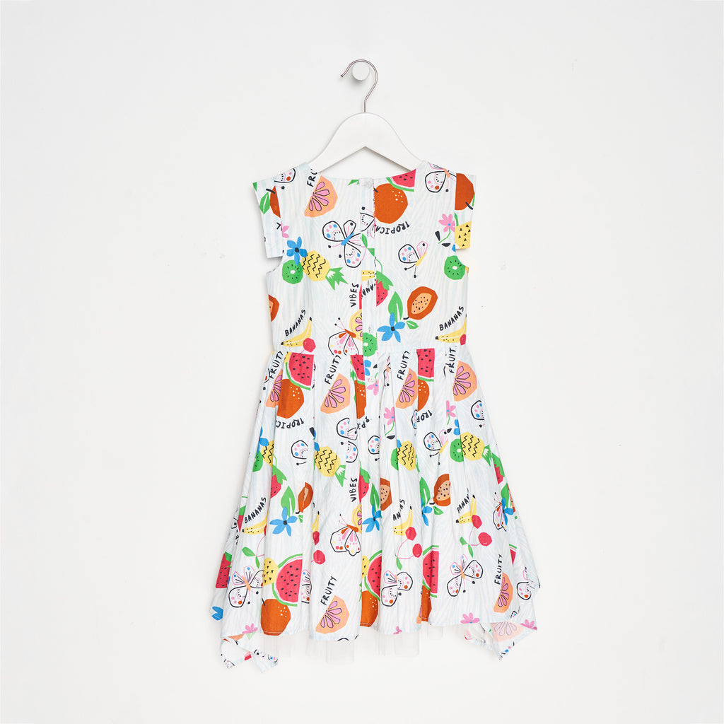 Fifi Tropical Square Hem Dress