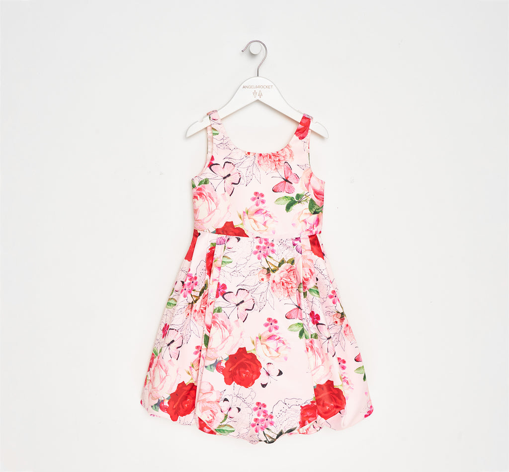 Marnie Blush Floral Puff Ball Dress