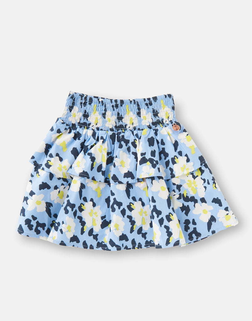 Eliza Shirred Waist Print Skirt