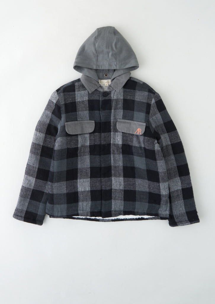 Miles Check Borg Lined Hooded Shacket