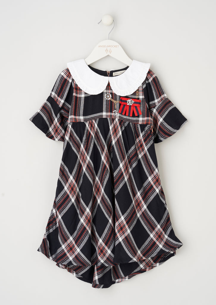 Sienna Check Dress With Collar