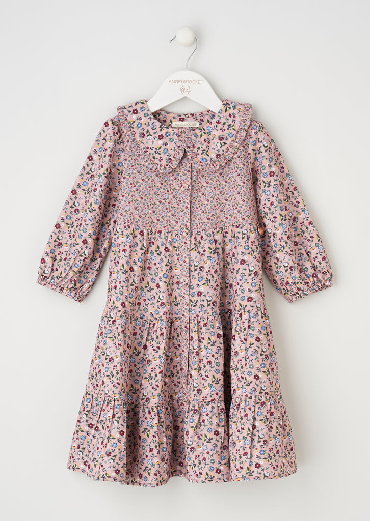 Mia Collared Tiered Shirt Dress