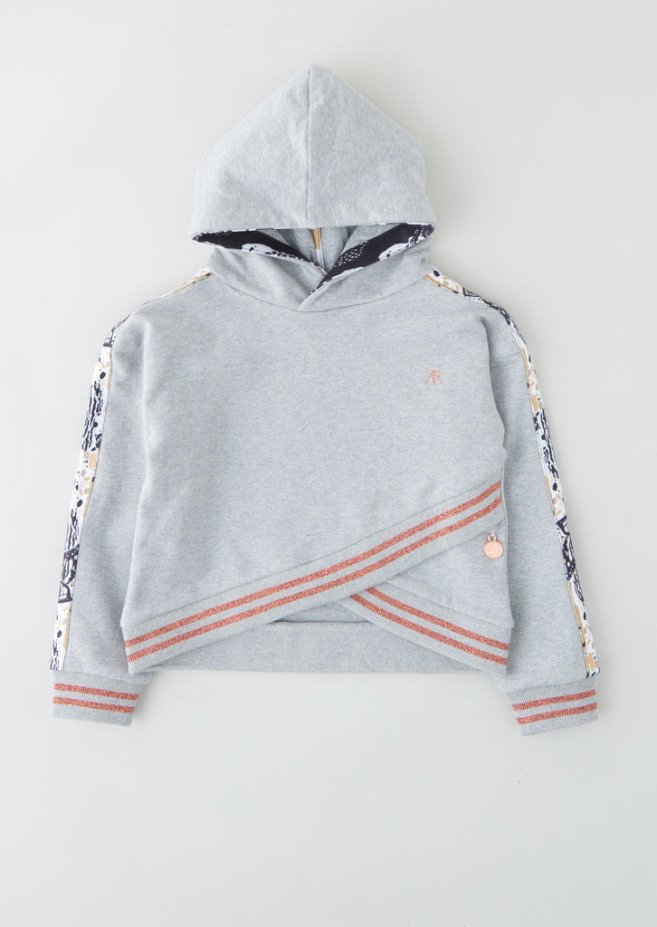 Bea Hooded Arm Stripe Sweat