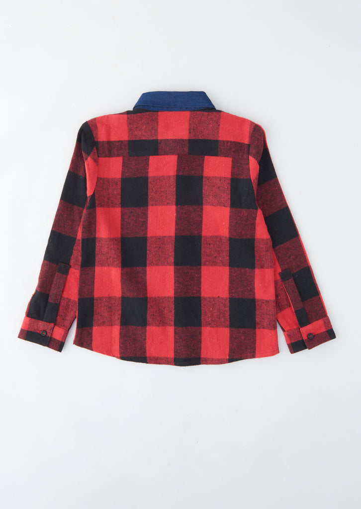 Fred Denim Collared Check Shirt
