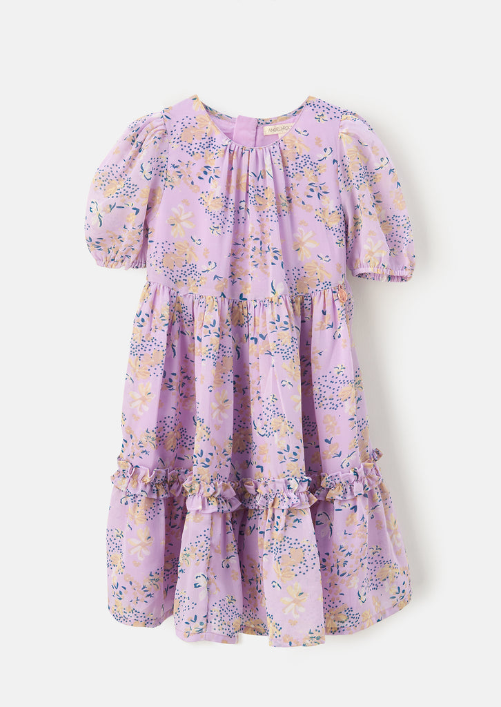 Anais Orchid Floral Tiered Georgette Dress