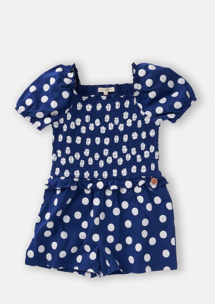 Spot Shirred Playsuit