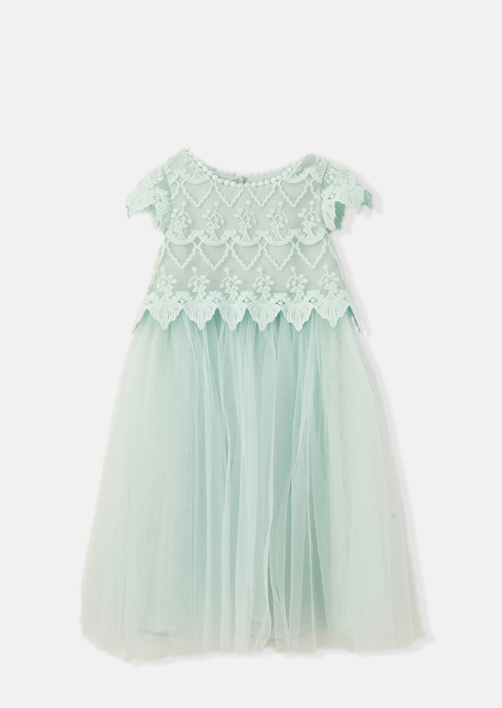 Pistachio Lucy Lace Bodice Dress