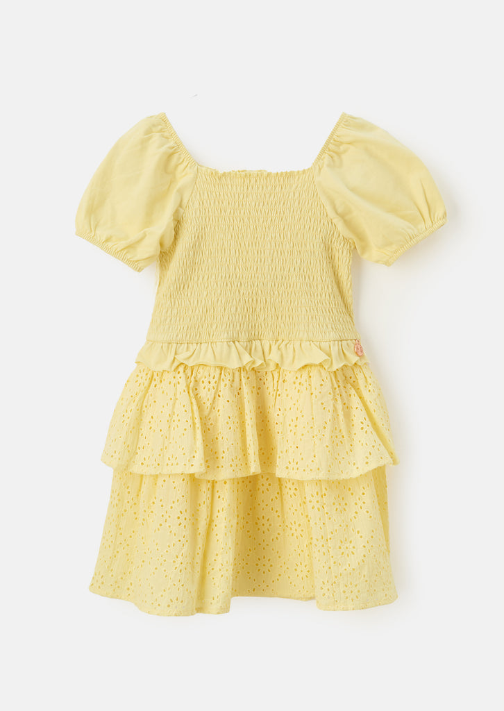 T Shirt Broderie Puff Sleeve Dress