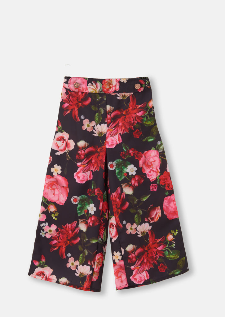 Dani Navy Floral Wide Leg Trouser