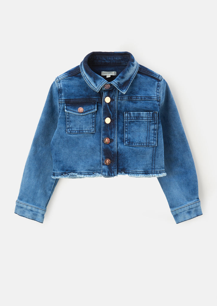 Alexa Washed Blue Denim Jacket