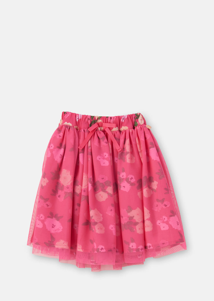 Aubree Floral Layered Tutu Skirt