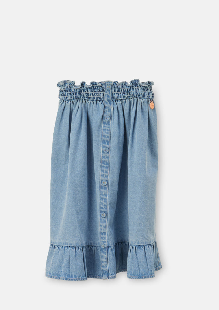 Paige Shirred Waist Denim Skirt