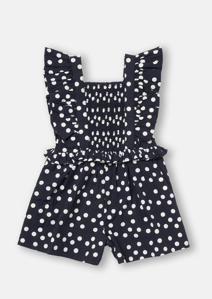 Shirred Spot Playsuit