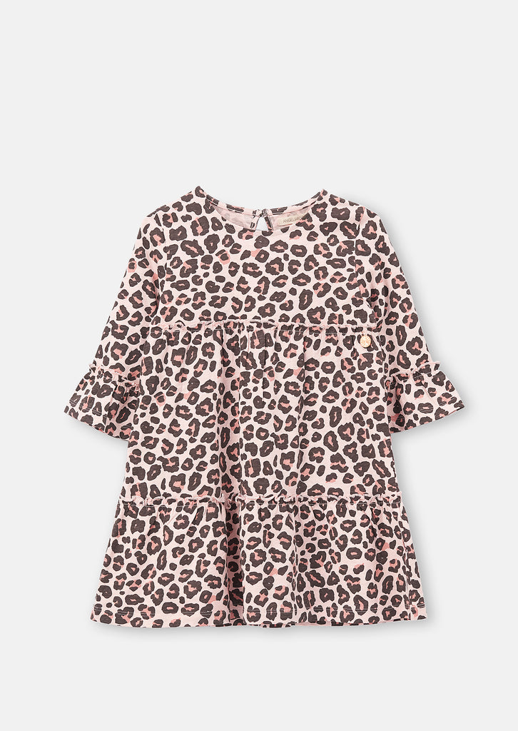 Larisa Leopard Print Jersey Dress