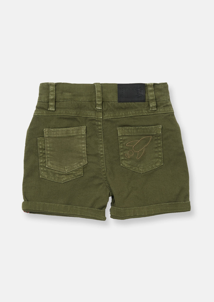 Green Five Pocket Short
