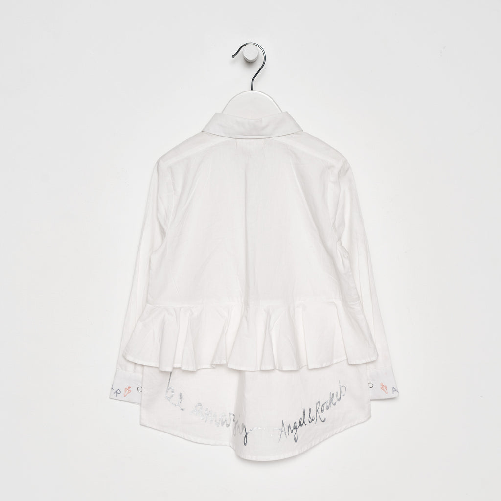 Dulcie White Long Line Shirt