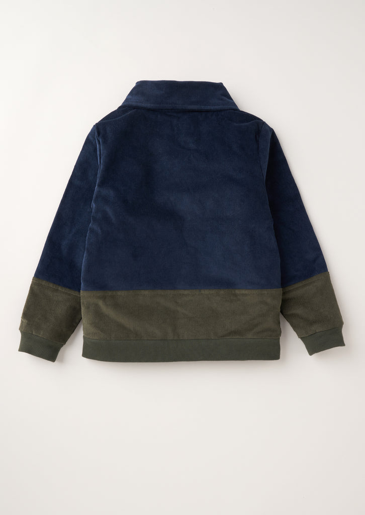 Carlos Mixed Fabric Harrington Jacket