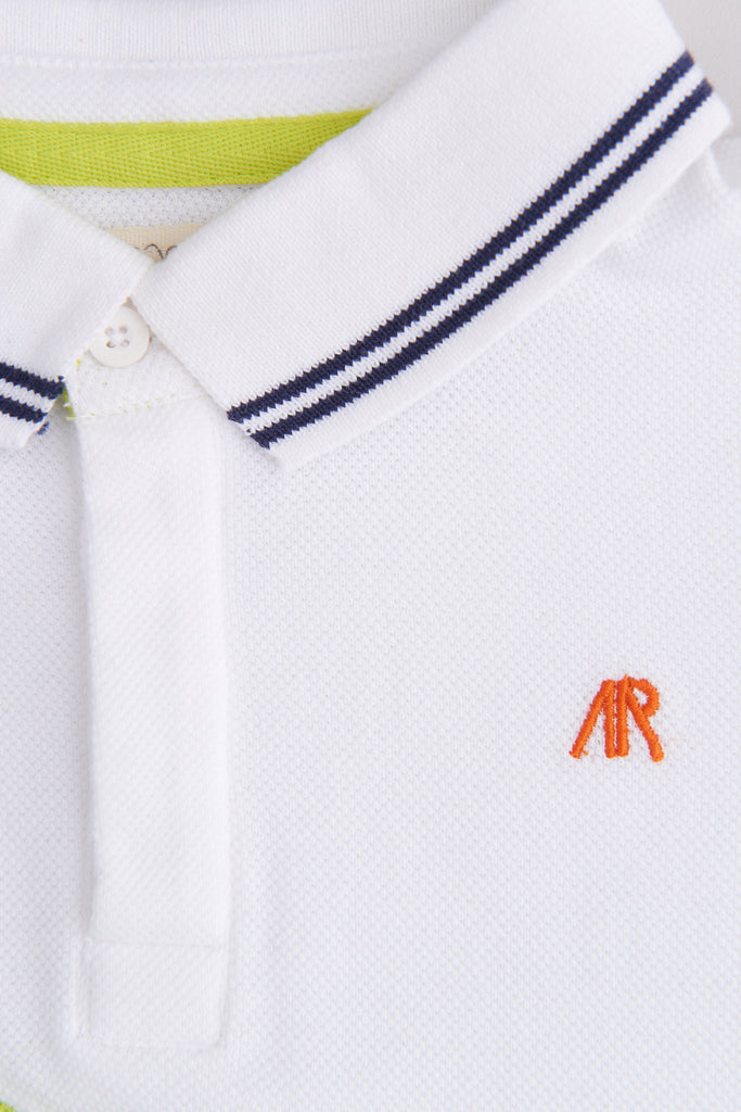 Bear Panelled Polo Shirt