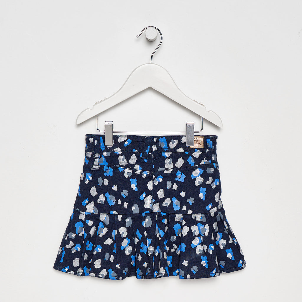Jessie Animal Print Denim Skirt