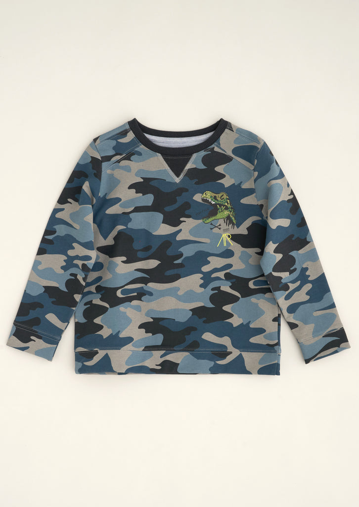 Sonny Camo Sweat Top